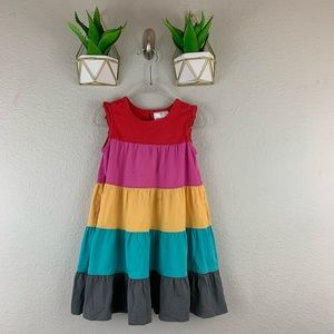hanna andersson Tiered Dress Size 90 Sleeveless